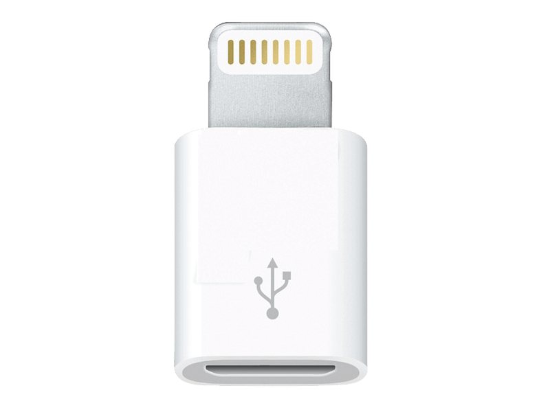 Adaptador Apple MD820ZD Micro USB para Lightning
