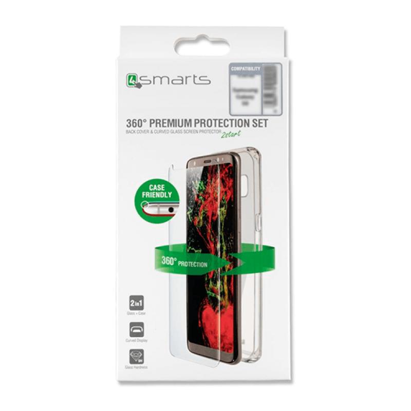 Vidro temperado + capa clear Samsung Galaxy S9 G960