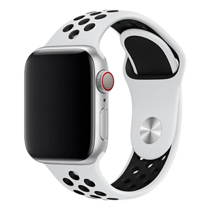Bracelete Apple Watch 44mm Deluxe Devia Sport2 Band - Branco