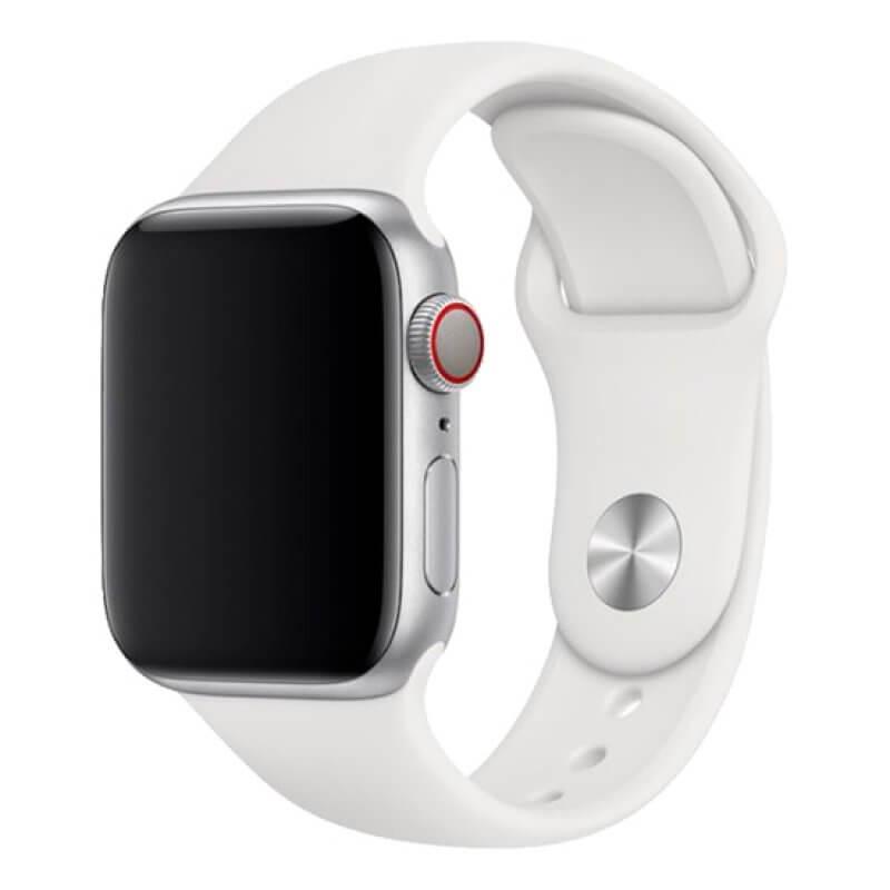 Bracelete Apple Watch 44mm Deluxe Devia Sport Band - Branco