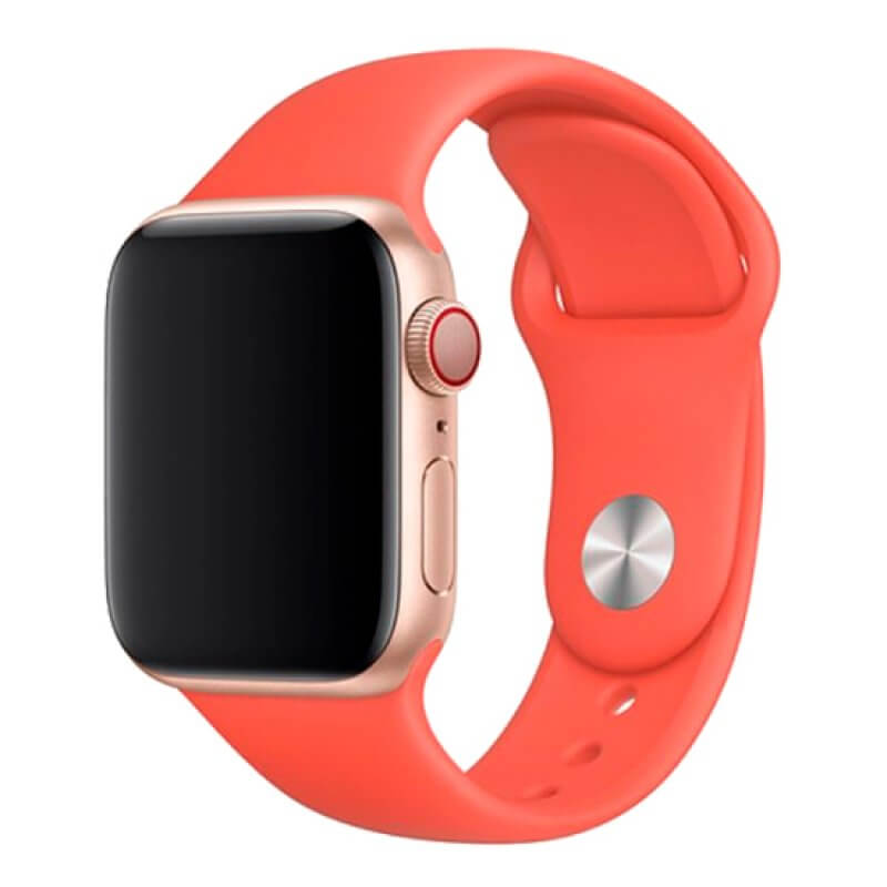 Bracelete Apple Watch 40mm Deluxe Devia Sport Band - Laranja