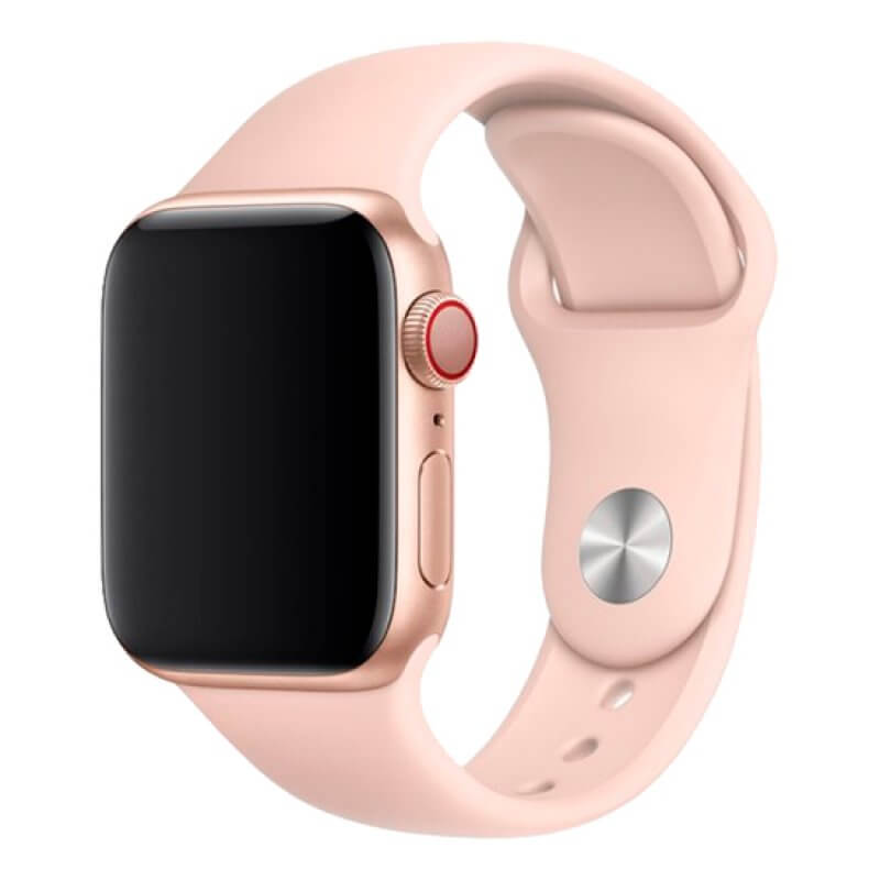 Bracelete Apple Watch 44mm Deluxe Devia Sport Band - Rosa Areia