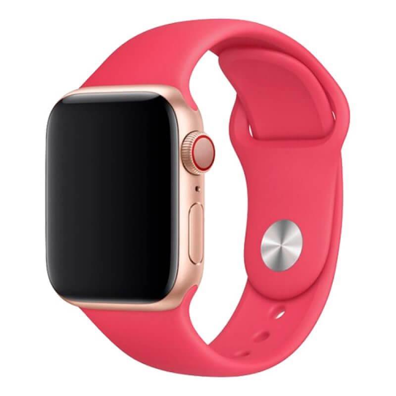 Bracelete Apple Watch 44mm Deluxe Devia Sport Band - Vermelho
