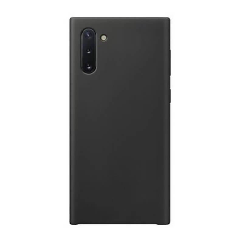 Silicone Cover Samsung Galaxy Note 10 - Preto