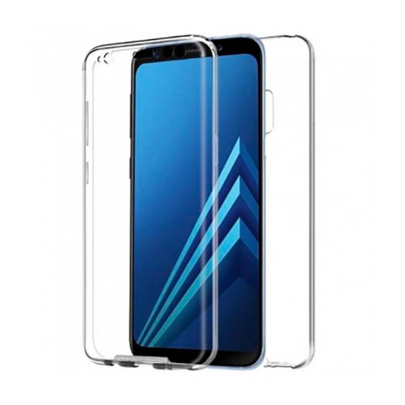 Capa silicone 360 Samsung Galaxy A8 A530 - Transparente