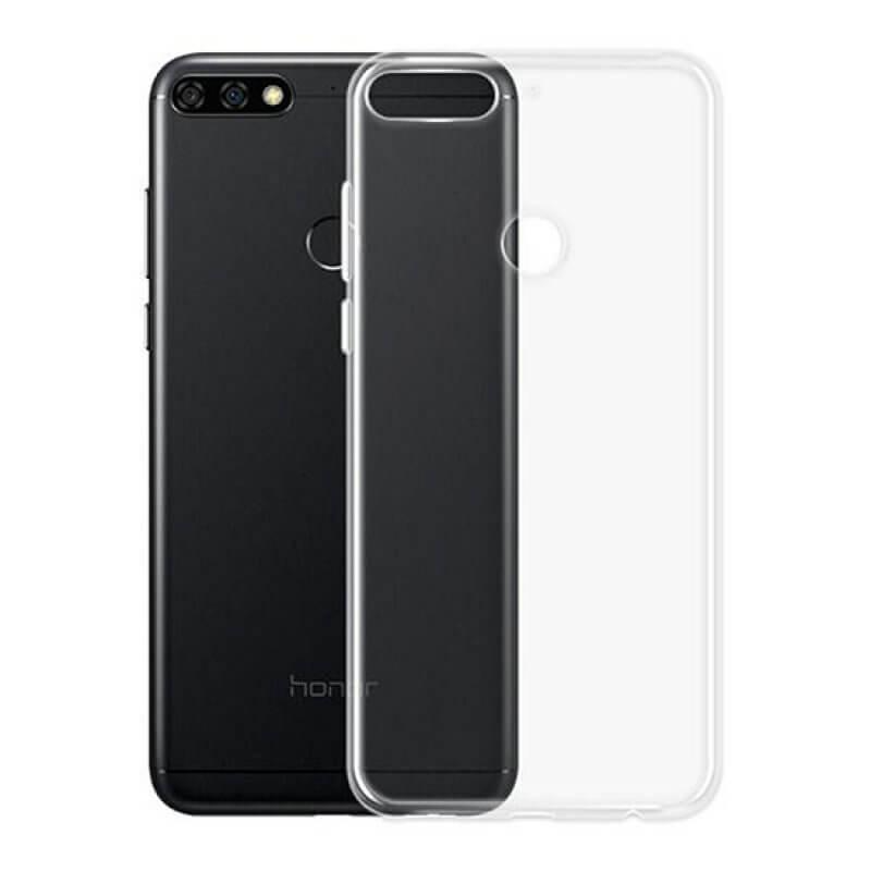 Capa silicone Huawei Y7 (2018) - Transparente