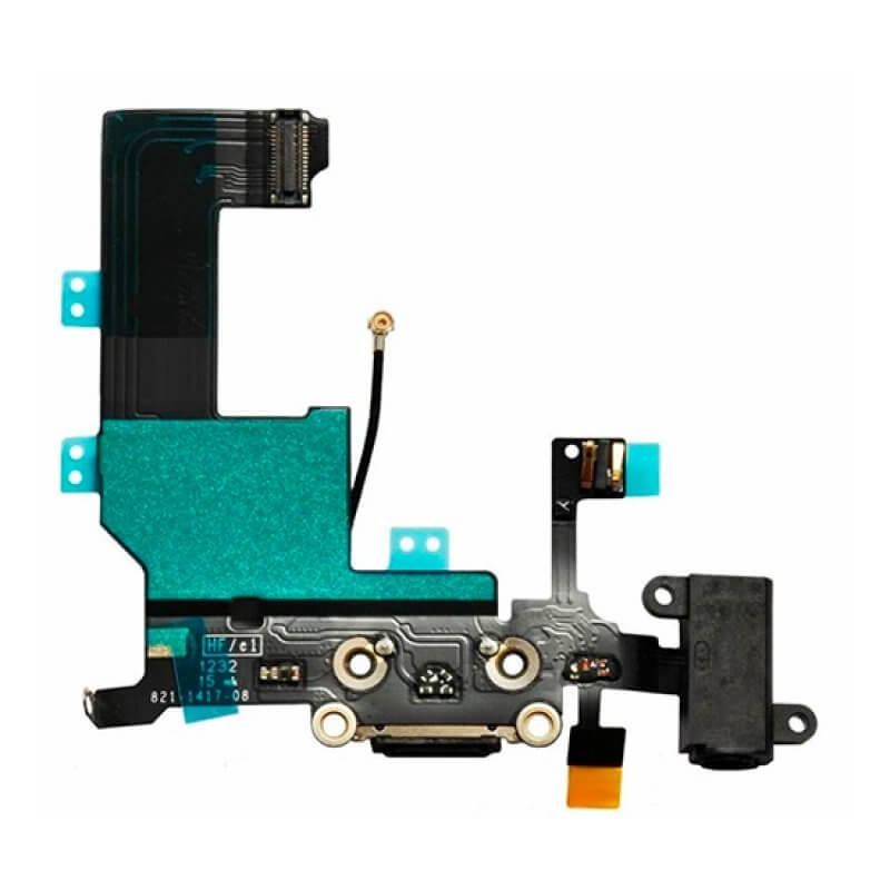 Conetor Carga iPhone 5C - Preto