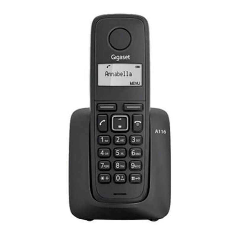 Telefone Sem Fios Gigaset A116 Preto