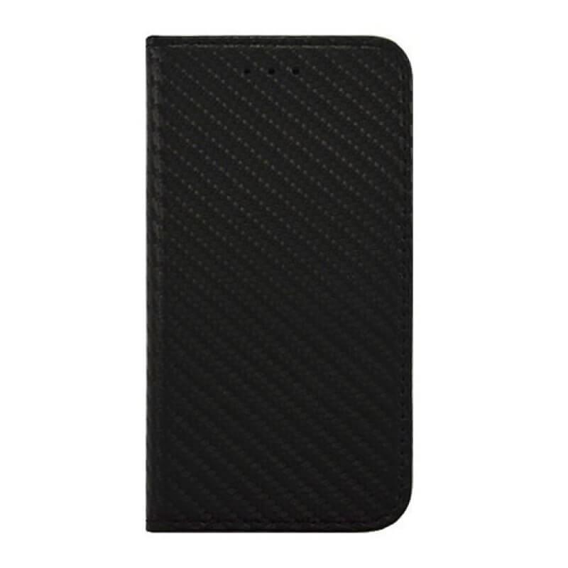 Capa flip carbono Huawei Mate 10 Lite - Preto