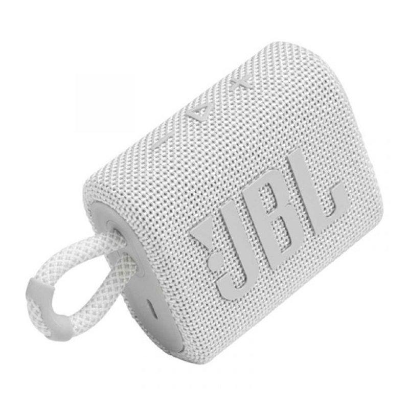 Coluna Portátil JBL GO 3 Bluetooth 4.2W Branco
