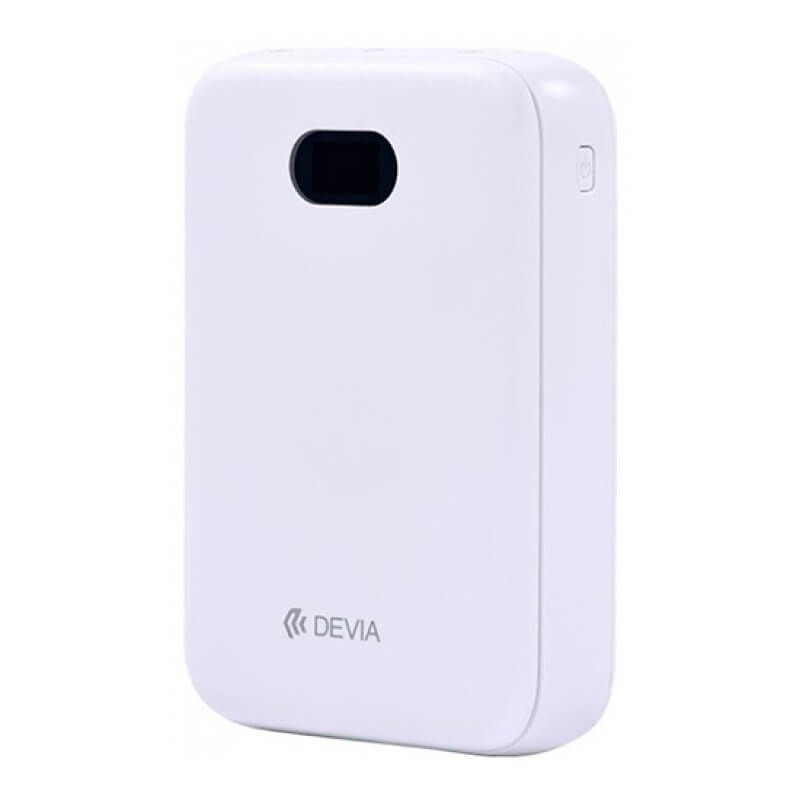 Digital Mini PowerBank 10000mAh - White