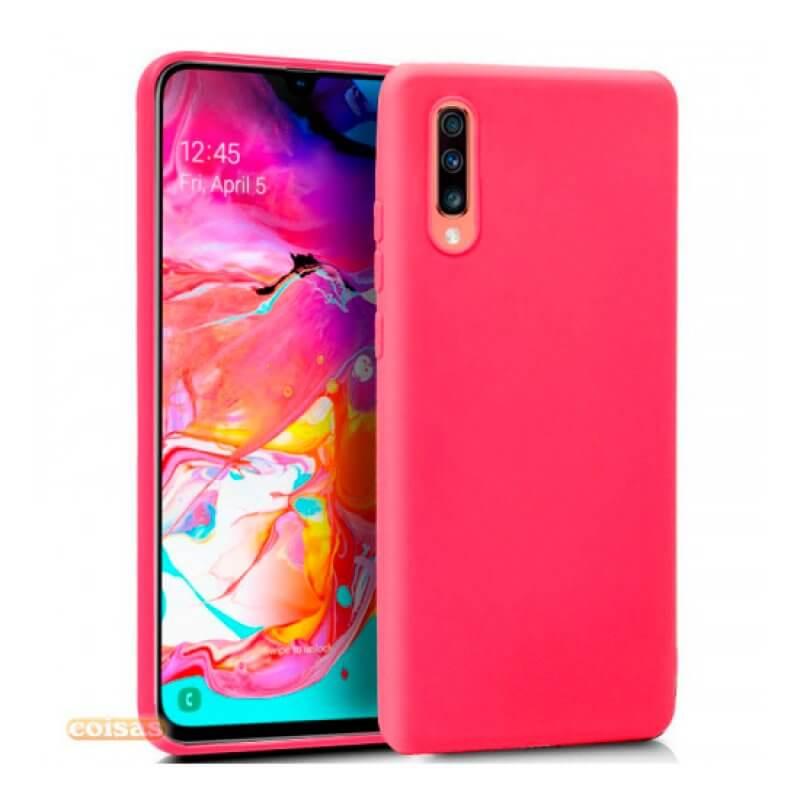 Silicone Cover Samsung Galaxy A70 - Rosa