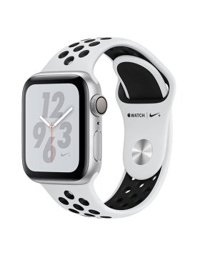 Apple Watch Nike+ Series 4 40mm GPS - Silver Aluminium Case Pure Platinum/Black Nike Sport Band