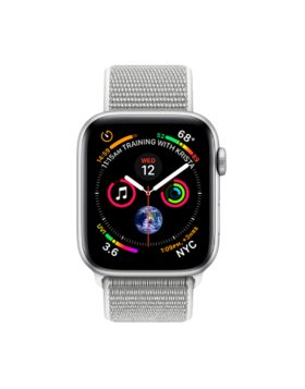 Apple Watch Series 4 44mm GPS - Silver Aluminium Case Seashell Sport Loop