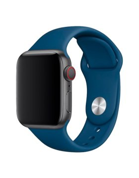 Bracelete Apple Watch 44mm Deluxe Devia Sport Band - Horizonte Azul