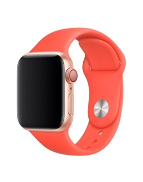 Bracelete Apple Watch 44mm Deluxe Devia Sport Band - Laranja