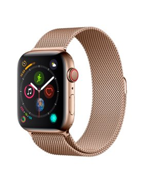 Bracelete Apple Watch 44mm Elegant Devia Milanese Loop - Dourado