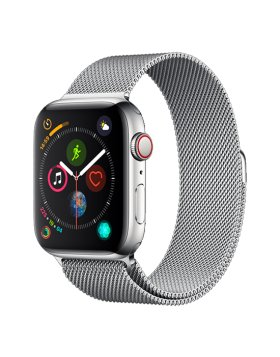 Bracelete Apple Watch 44mm Elegant Devia Milanese Loop - Prateado