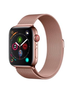 Bracelete Apple Watch 44mm Elegant Devia Milanese Loop - Rosa Dourado