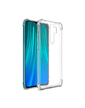 Capa Silicone Anti-Shock Xiaomi Note 8 Pro - Transparente