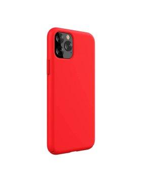 Capa Silicone Devia iPhone 11 Pro Max - Vermelho