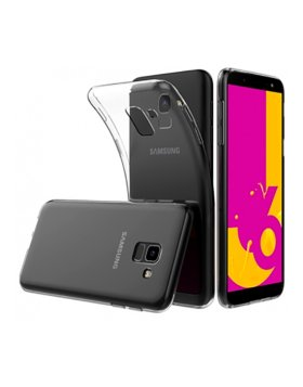 Capa silicone Samsung J6 J600 - Transparente