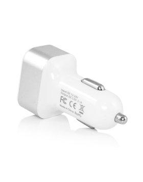 Carregador de Isqueiro 3 portas USB 5V - Branco