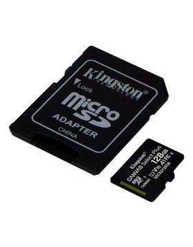 Cartão Kingston Canvas Select Plus MicroSDHC UHS-I A1 128GB + Adaptador