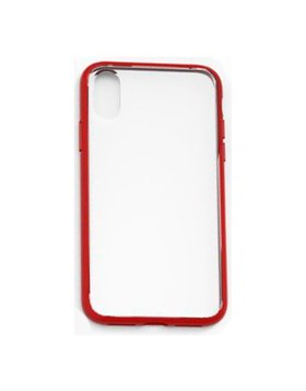 Case Anti-Shock Devia Series iPhone X/Xs - Transparente/Vermelho