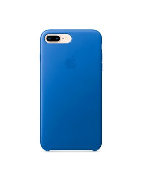 Leather Case iPhone 8 Plus - Electric Blue