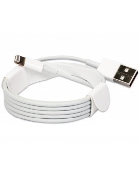 Lightning Cable Apple iPhone MD818 1 Metro em BULK - Branco