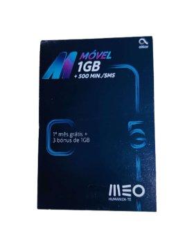 Cartão MEO 1GB + 500 Minutos