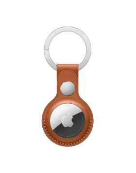 Porta-chaves Apple Leather Key Ring Brown para AirTag - MX4M2ZM/A