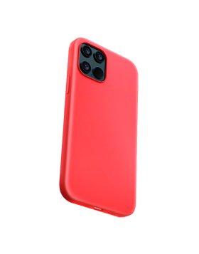 Silicone Case Devia iPhone 12 | 12 Pro - Vermelho