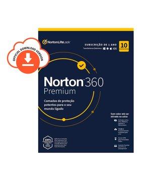 Antivírus Norton 360 Premium 2020 | 10 Dispositivos | 1 Ano | VPN e Password Manager | PC/Mac/Smartphones/Tablets