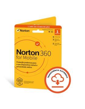 Antivírus Norton 360 para Mobile 2021 | 1 Dispositivo | 1 Ano | VPN e Password Manager | Android/IOS