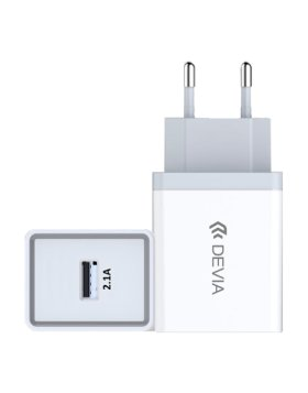 Transformador Smart Series Devia 5V 2.1A 1 Usb - Branco
