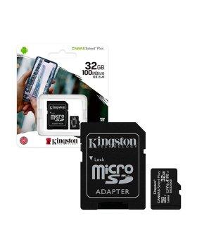 MicroSD Kingston 32GB SDCS2 R A1 100B/s Classe 10 c/Adaptador