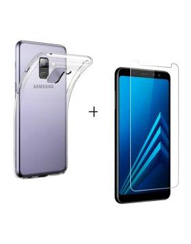 Vidro temperado + capa Samsung Galaxy A8 A530 2018
