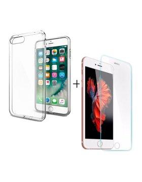 Vidro temperado + capa iPhone 7/8 Plus