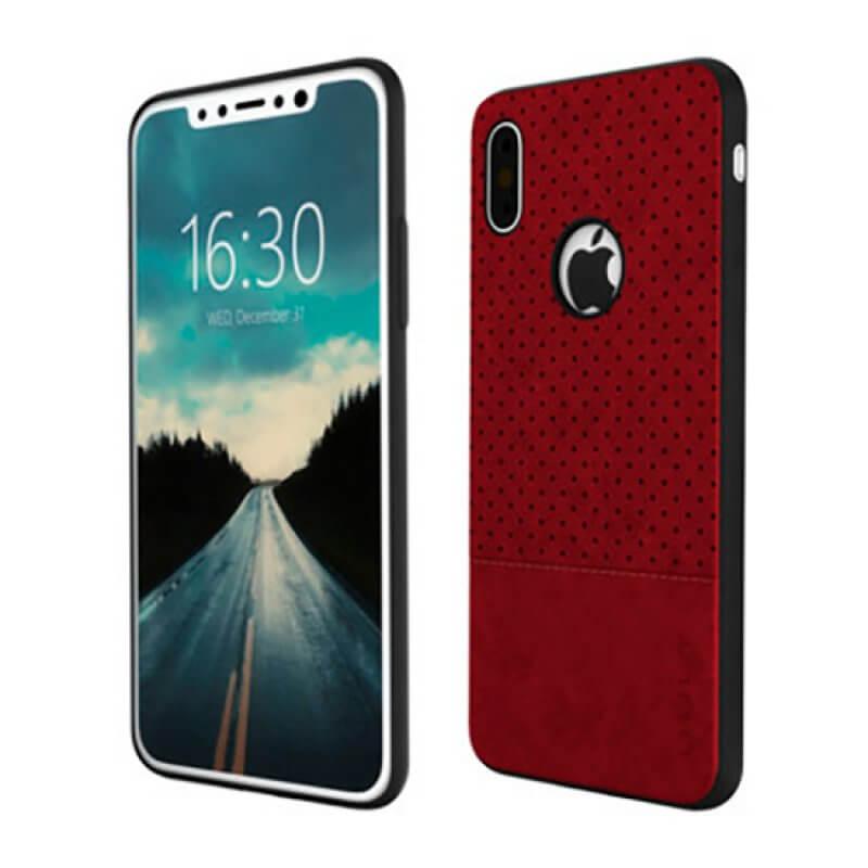 Back case Qult Drop iPhone X | Xs - Vermelho