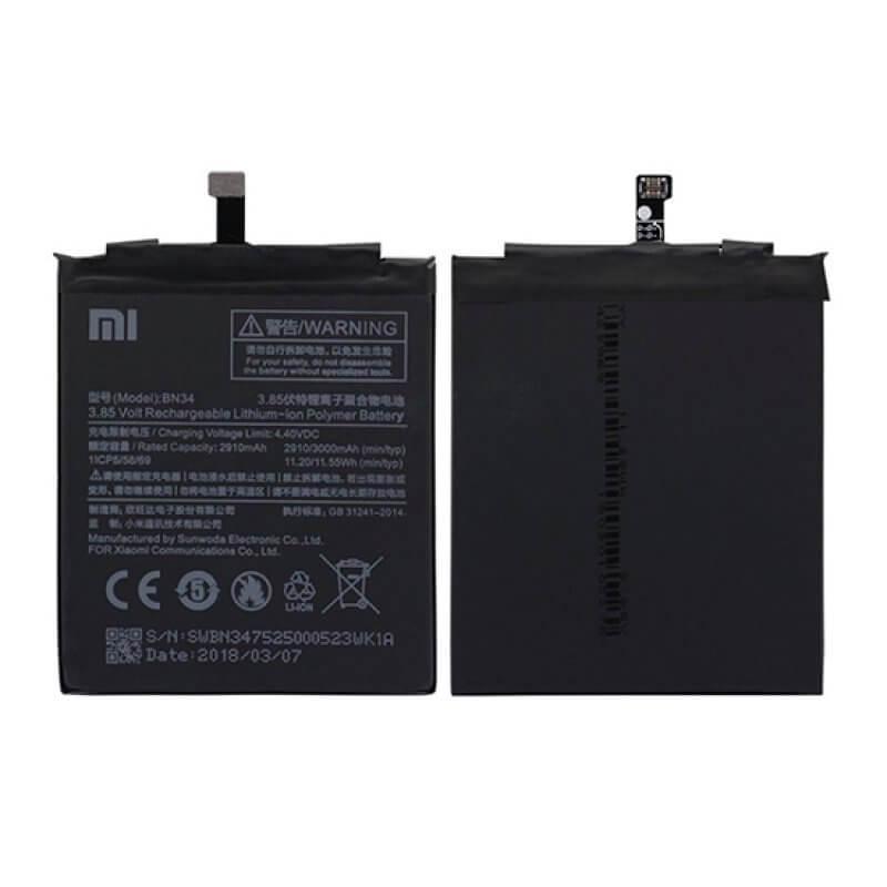 Bateria Xiaomi Redmi Note 5A  BN34