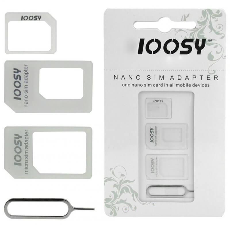 Adaptador de cartões Micro Sim e Nano Sim