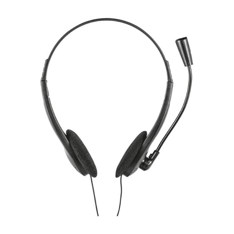 Headset Trust Chat Jack 3.5mm - Preto