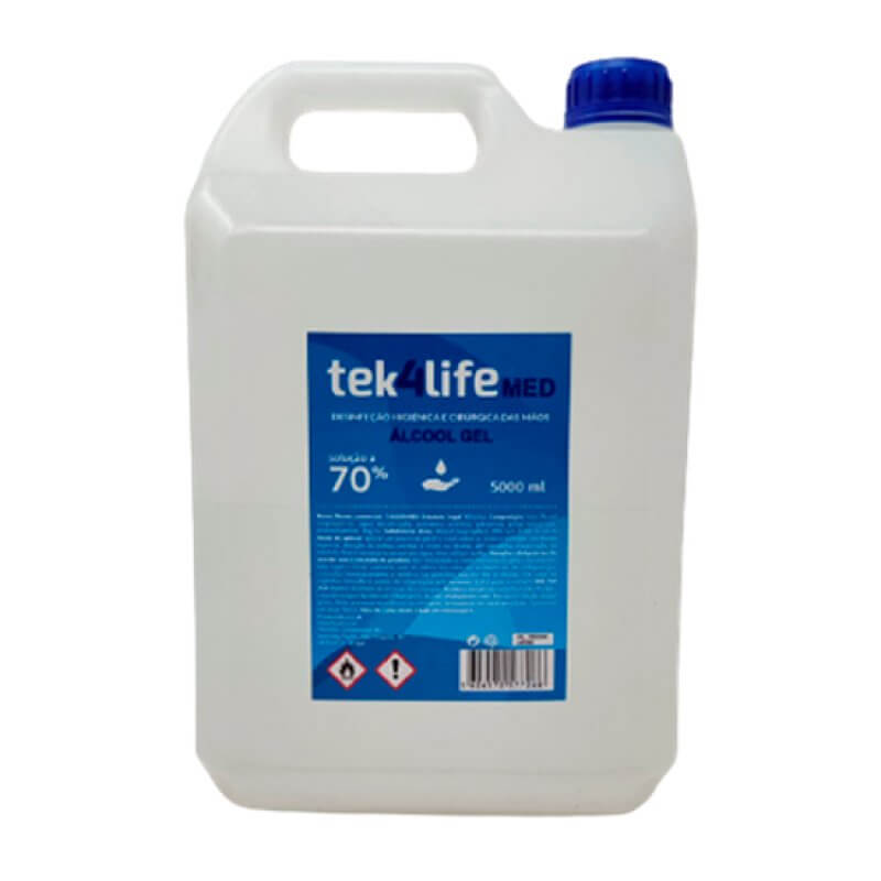 Álcool Gel Mãos 70% 5 Litros