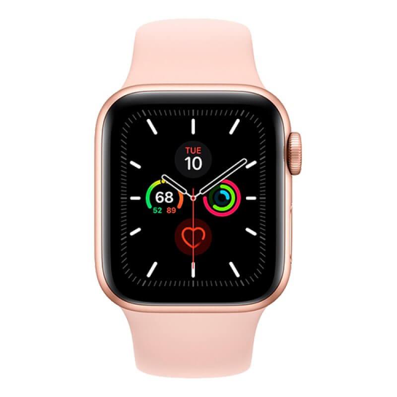 Apple Watch Series 5 40mm GPS Gold Aluminium Case Pink Sand Sport Band