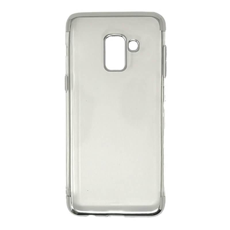 Capa silicone Samsung A8 A530 - Prateado