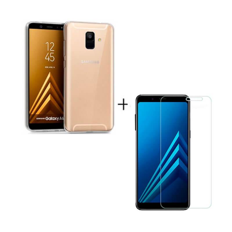 Vidro temperado + capa Samsung Galaxy A600 A6