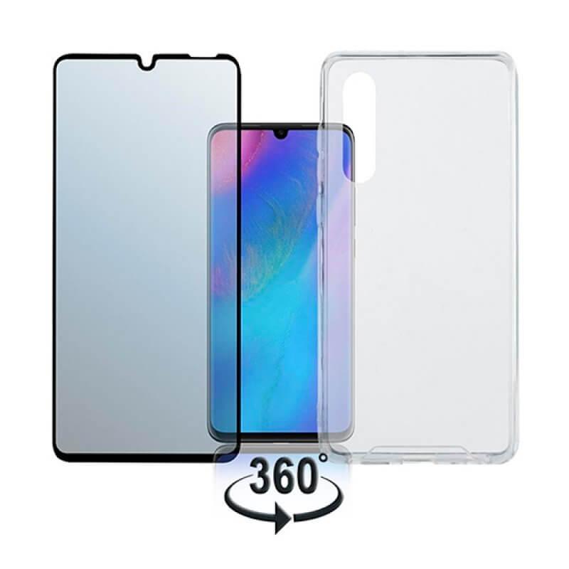 Vidro temperado + Capa Huawei P30 - Transparente