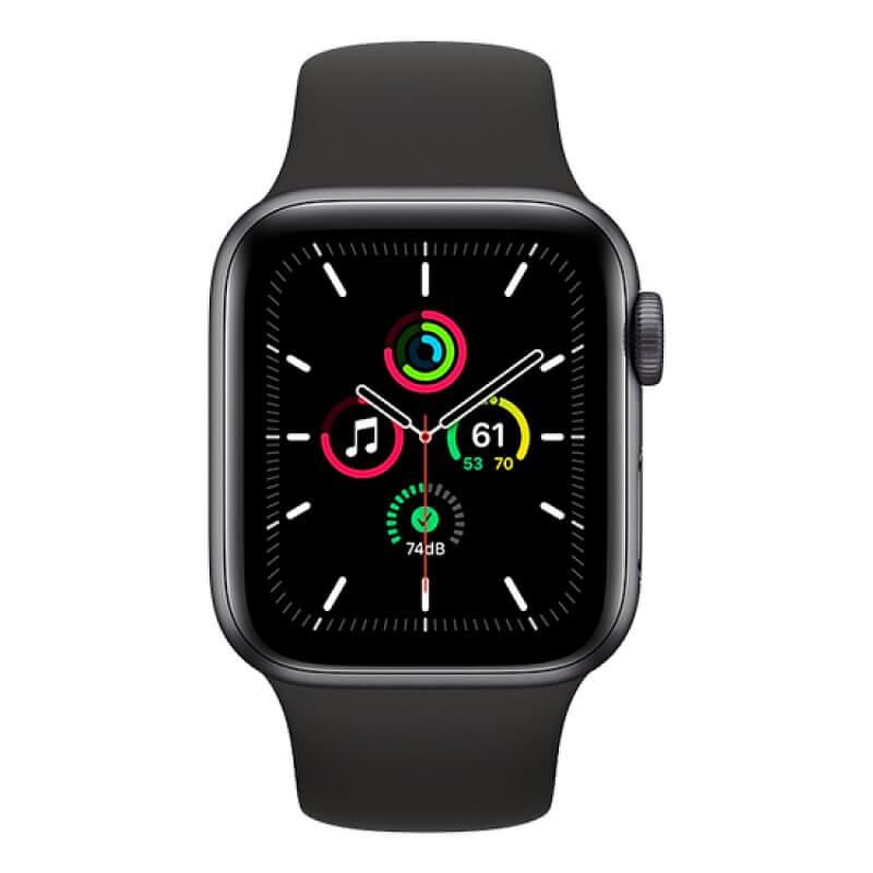 Smartwatch Apple Watch SE GPS 44mm Space Gray Aluminium Case Black Sport Band